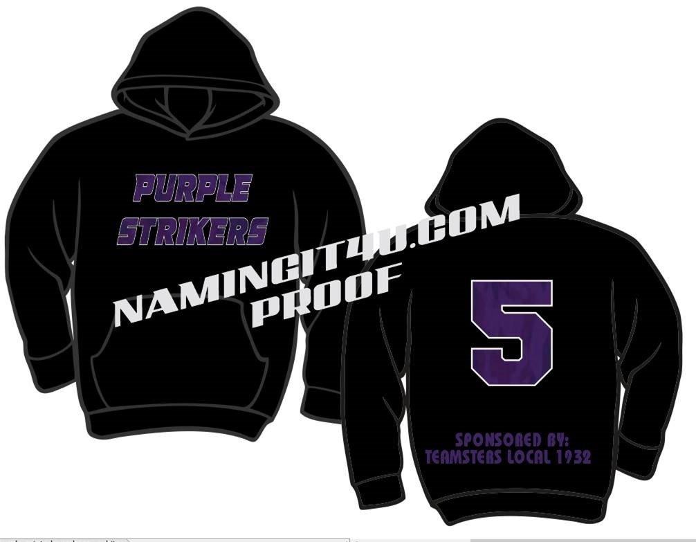 Purple Strikers - T SHIRT OR HOODIE