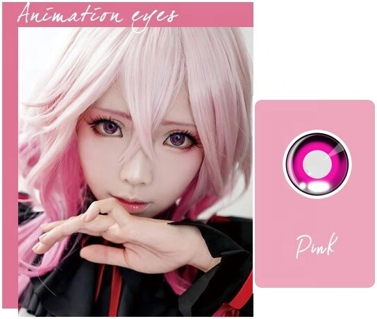 Cute Anime Red Pink