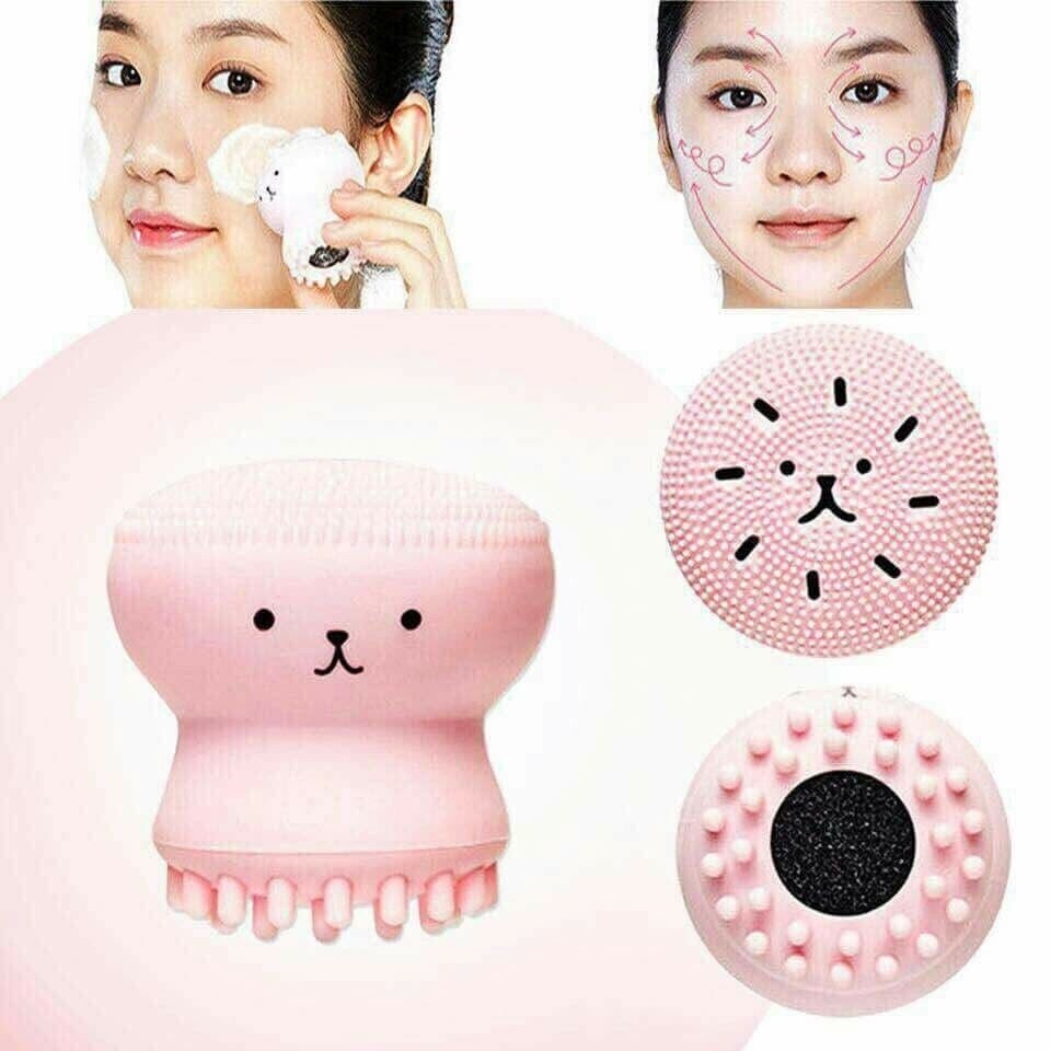 Others - Cute Pink Facial Cleanser Brush