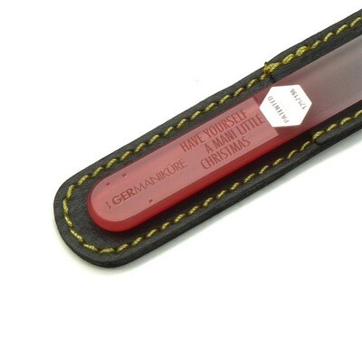 Glass Nail file-Have yourself a mani little Christmas