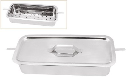 Stainless steel disinfecting tray 953