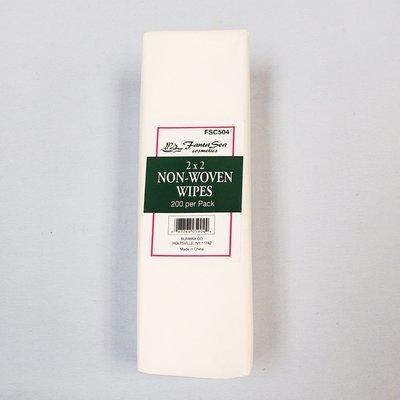 Non-woven wipes 2 x 2