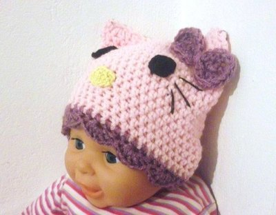 339d1c83b67 Hello Kitty Beanie Hat Crochet Pattern