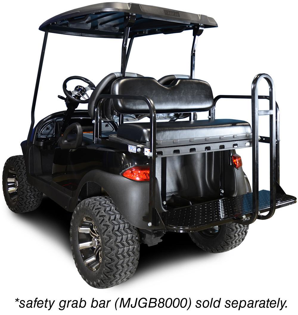 Genesis 150 Rear Flip Seat with Black Cushion. Will fit Club Car® Precedent® Golf Carts