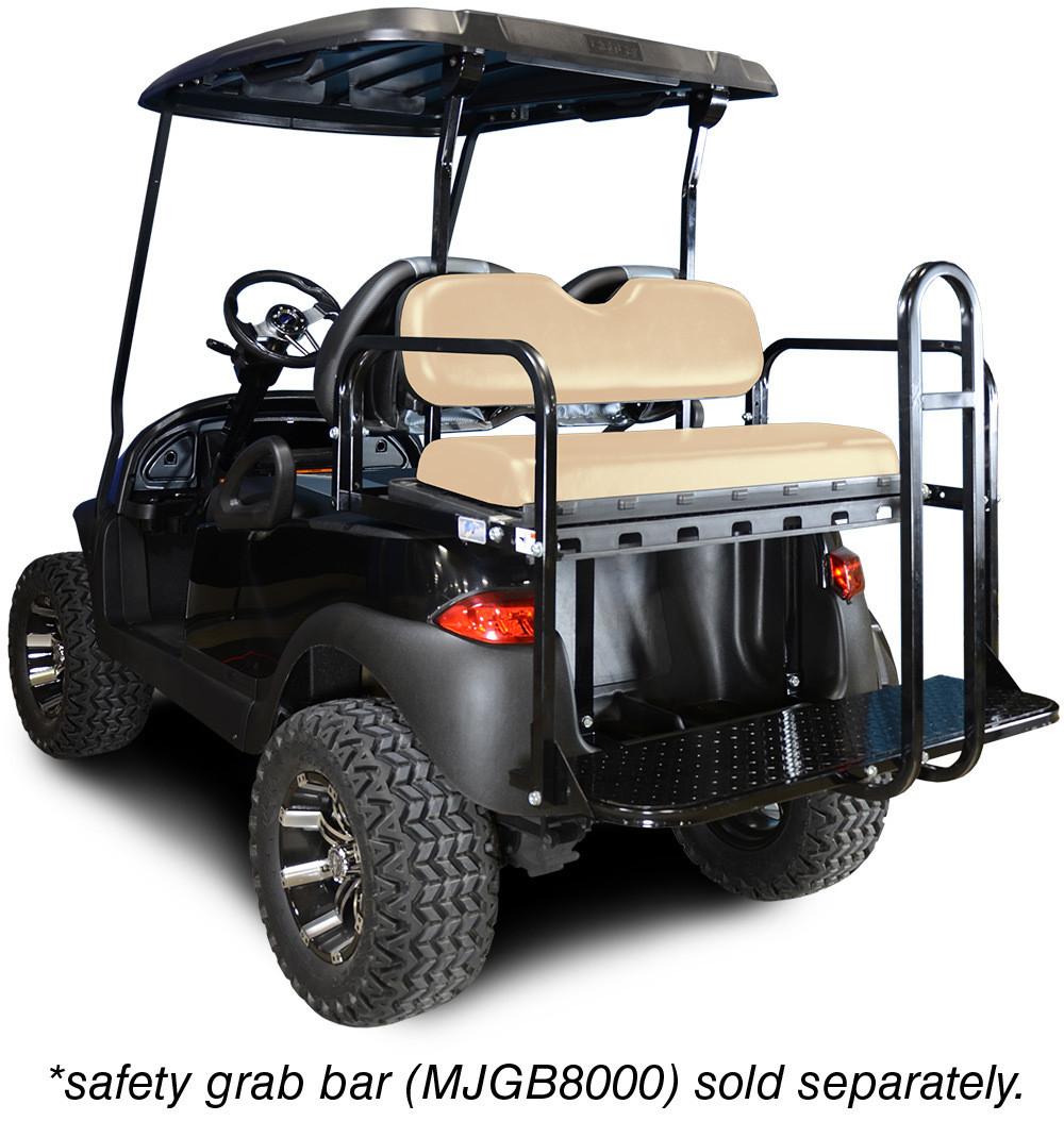 Genesis 150 Rear Flip Seat with Buff Cushion. Will fit Club Car® Precedent® Golf Carts