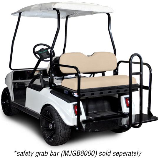 Genesis 150 Rear Flip Seat with Buff Cushion. Will fit Club Car® DS™ Golf Carts