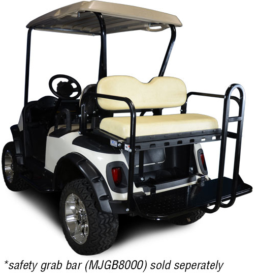 Genesis 150 Rear Flip Seat with Sandstone Cushion. Will fit *E-Z-Go® *RXV® Golf Carts.