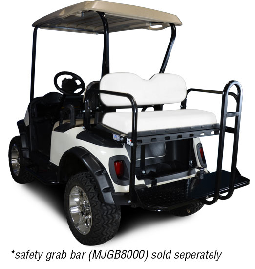 Genesis 150 Rear Flip Seat with Oyster Cushion. Will fit *E-Z-Go® *TXT® Golf Carts.