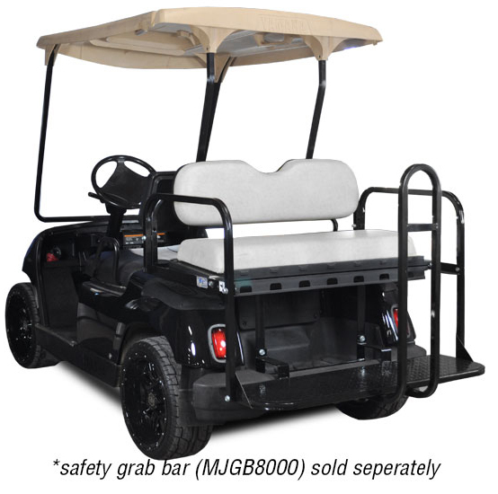 Genesis 150 Rear Flip Seat with Ivory Cushion. Will fit Yamaha® G-Series® Golf Carts. Golf Carts.