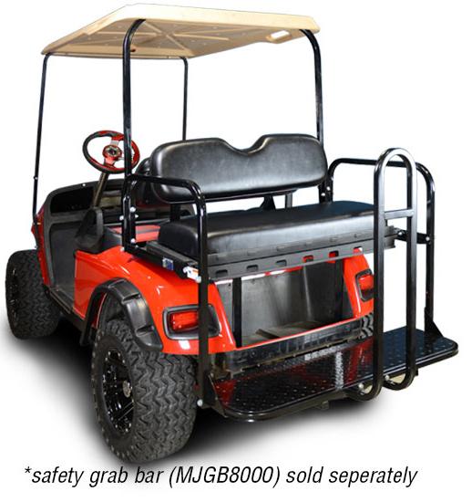 Rear Flip Seat with Black Cushion. Will fit *E-Z-GO® *TXT® Golf Carts.