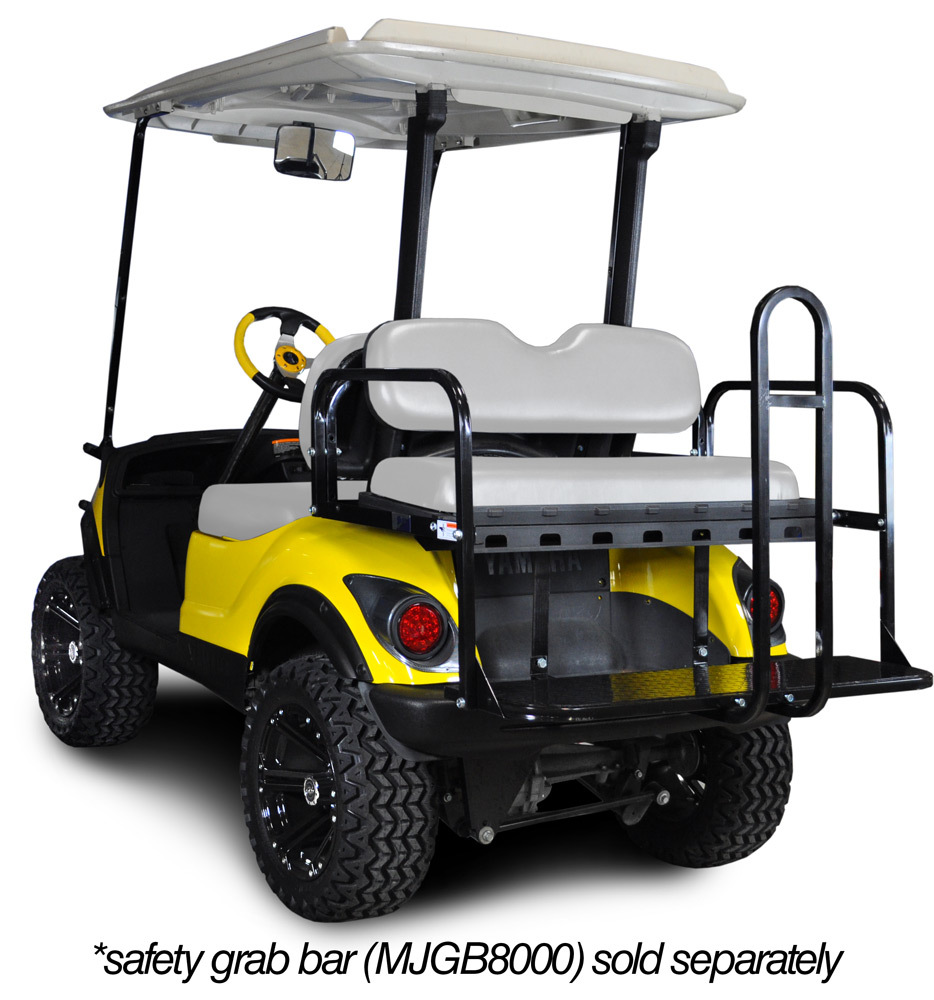 Genesis 150 Rear Flip Seat with Oyster Cushion. Will fit Yamaha® G-Series® Golf Carts. Golf Carts.