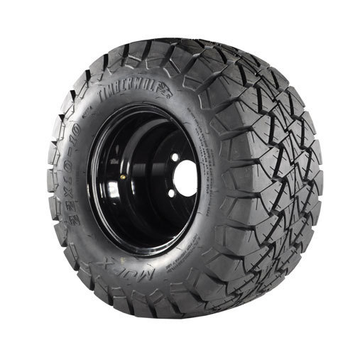 22x10x10 Timberwolf A/T Tire on 10x8 Black Steel Wheel
