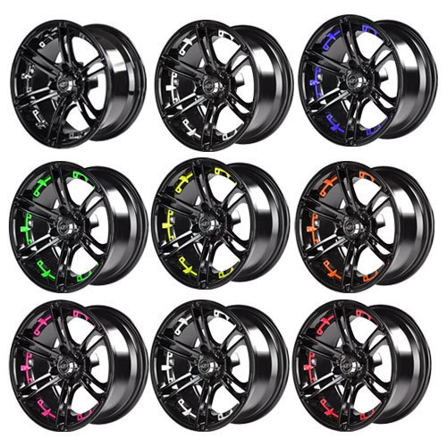 Mirage 12x7 Black Wheel Color Insert Options (inserts only)