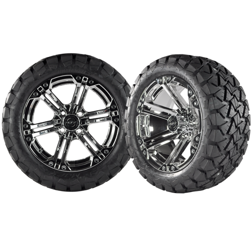 NITRO 12x7 Chrome w/ 22x10x12 Timber Wolf A/T Tire