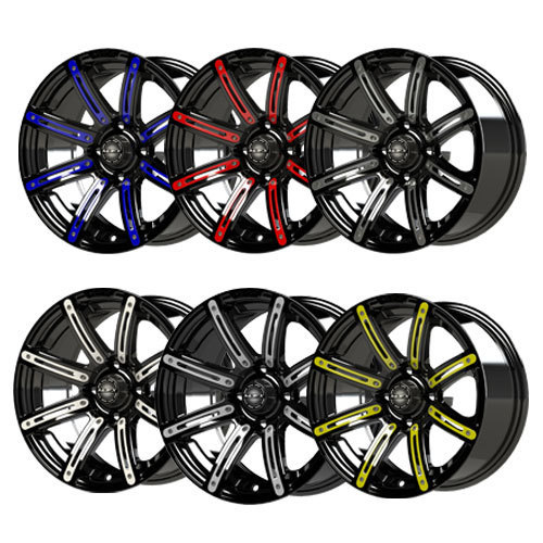 Mirage 10x7 Black Wheel Color Insert Options (inserts only)