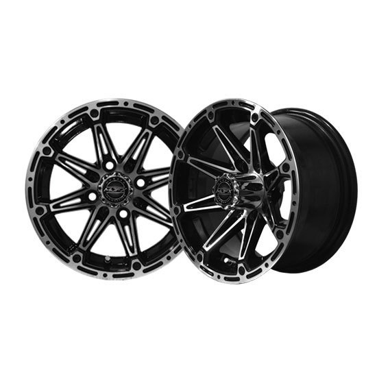 ELEMENT 14x6 Machined/Black Wheel