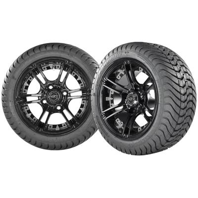 MIRAGE 12x7 Black w/ 215/35/12 Cobra Street Tire