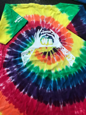 Women's Short Sleeve V-Neck Tee Tie Dye 2x 37th