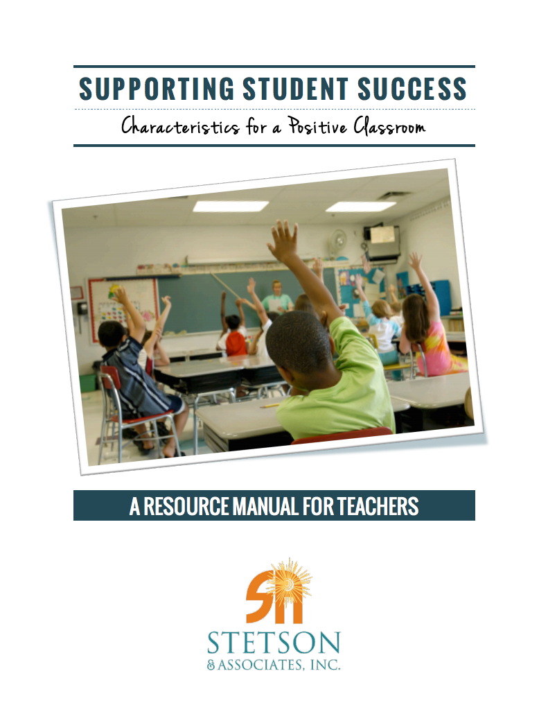 Supporting Student Success: Characteristics of a Positive Classroom (Digital Download) 00024