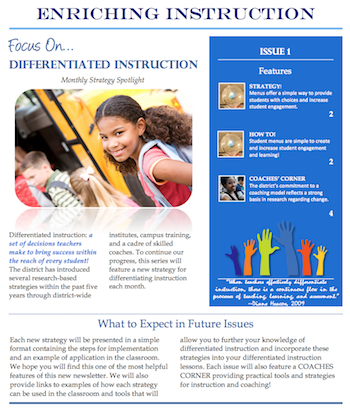 Enriching Instruction Monthly Newsletter Series 00028