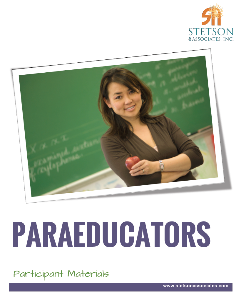 Paraeducator Training Module 00033