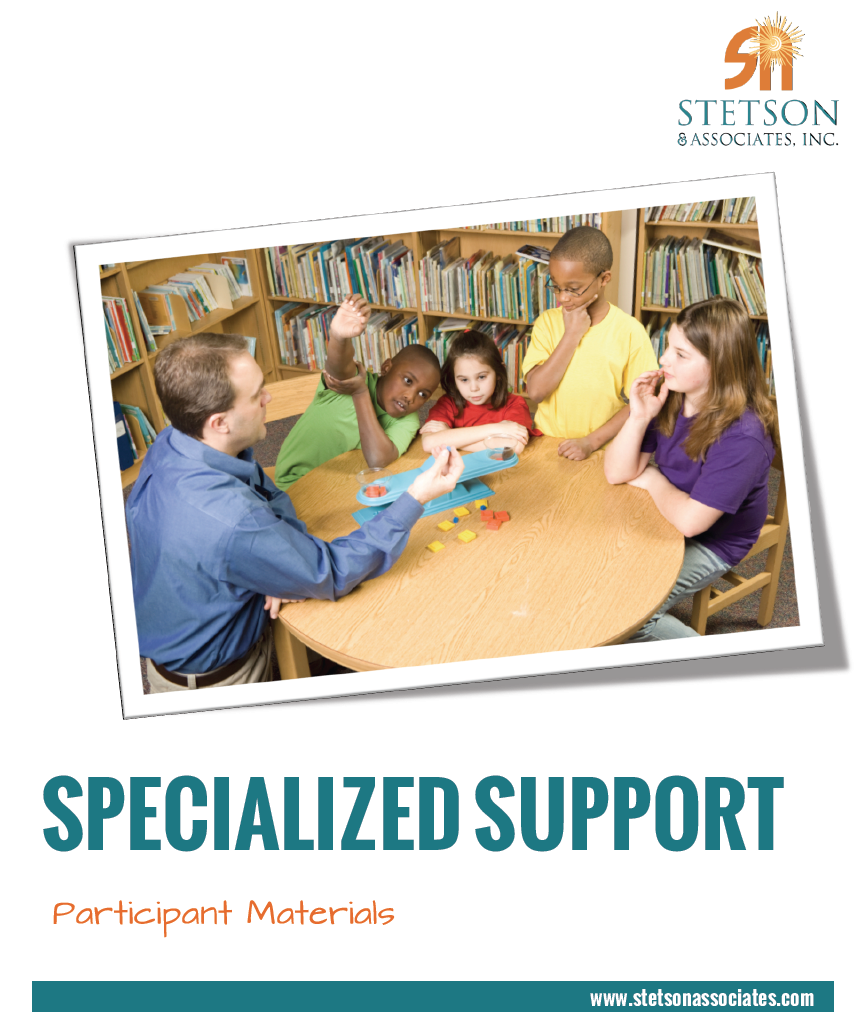 Specialized Support Training Module 00035
