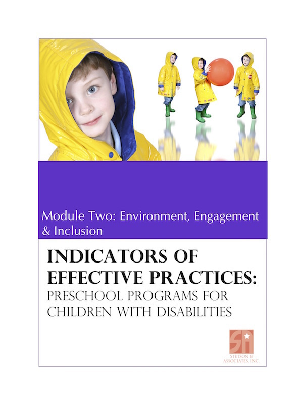 Preschool Programs for Children with Disabilities: Module 2 Environment, Engagement and Inclusion 00042