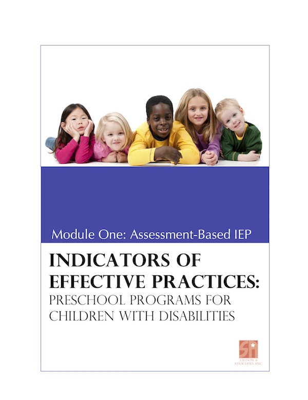 Preschool Programs for Children with Disabilities: Module 1 Assessment-Based IEP 00043