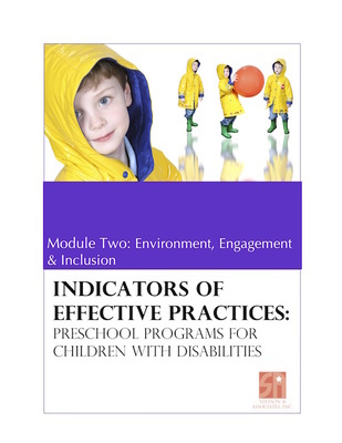 Preschool Programs for Children with Disabilities: Module 2 Environment, Engagement and Inclusion