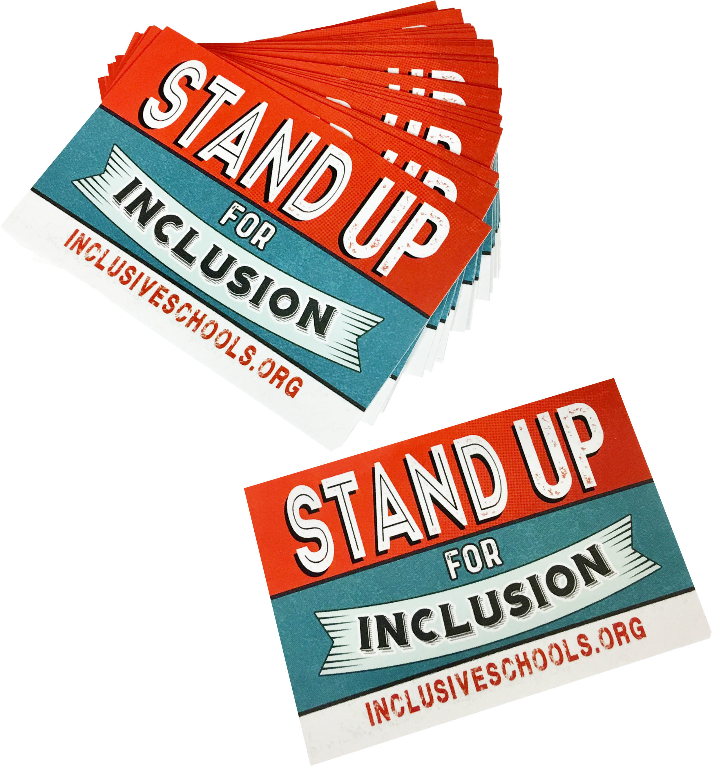 "100 Count Bundle of ""Stand Up For Inclusion"" Stickers 00056"