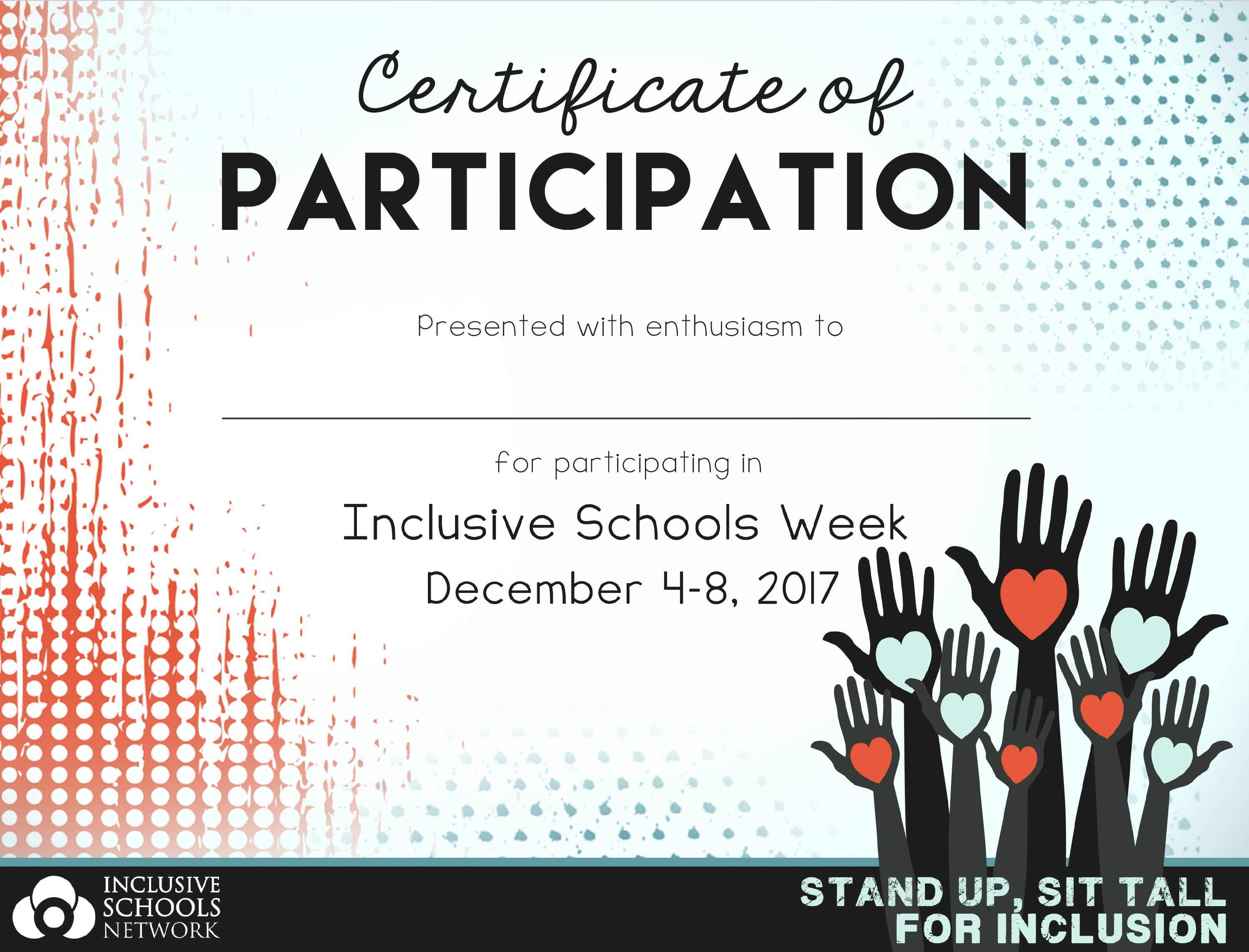 Inclusive Schools Week Certificates (30 count) 00007