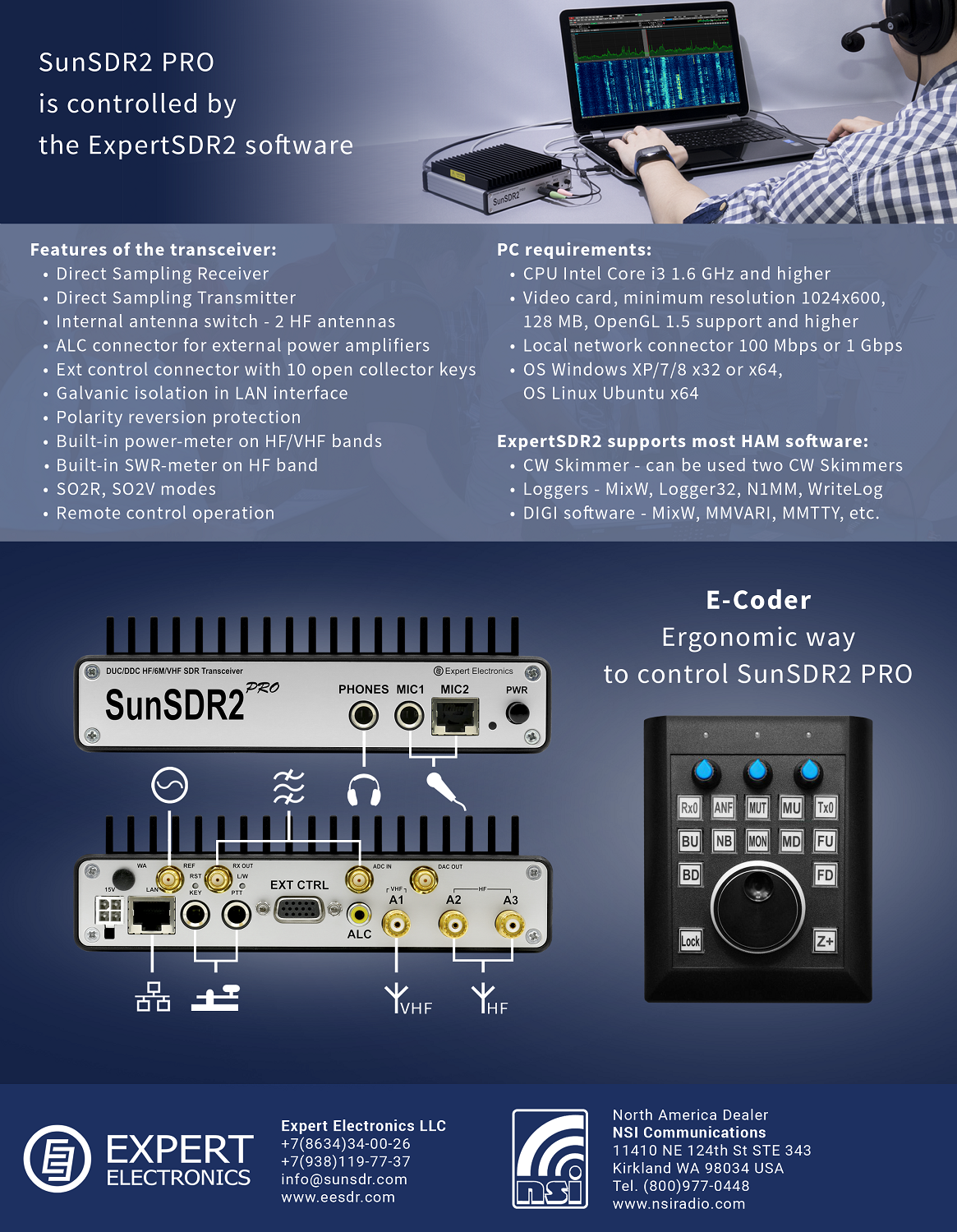 SunSDR2 Pro HF and VHF SDR transceiver 20W