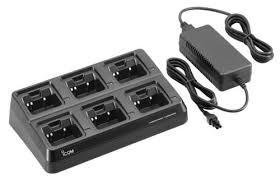 Icom BC197 22 6-unit charger for BP-232N,H,WP batteries 64