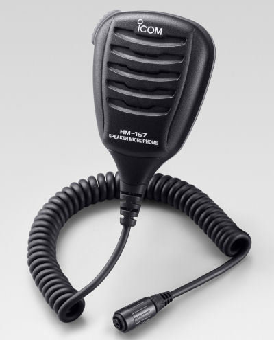 Icom HM-167 waterproof mic for M73, GM1600, M92, M72 352