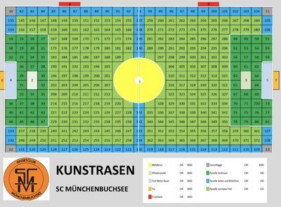 Kunstrasen parzelle - Mittelkreis