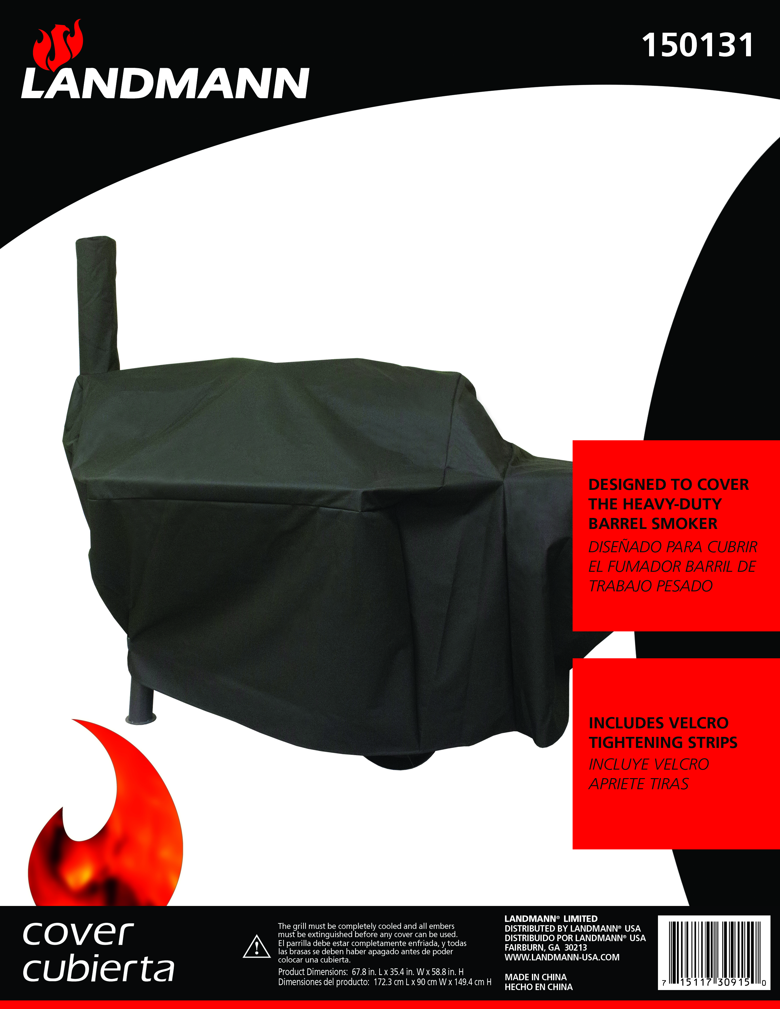 heavy duty barrel smoker cover