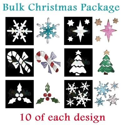 Bulk Christmas Stencil Package