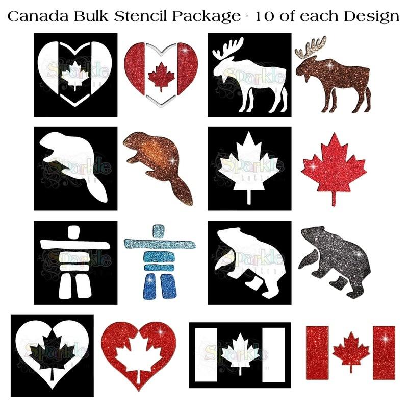 NEW!  Bulk Canada Stencil Package