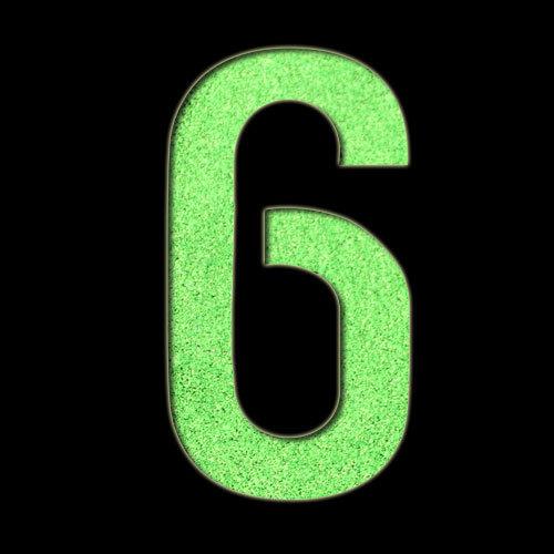 Large Number '6' Stencil