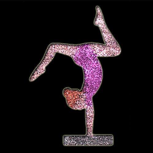 Gymnist Balance Beam Stencil