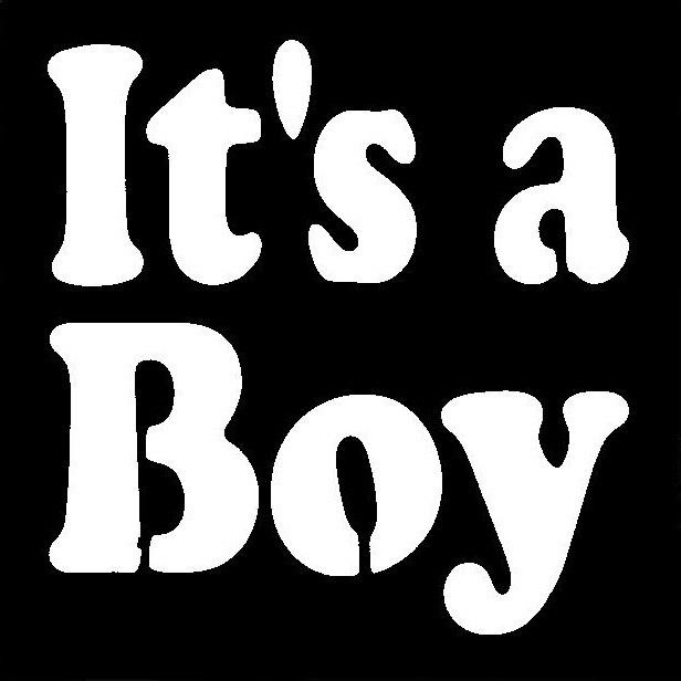 It's a Boy Stencil