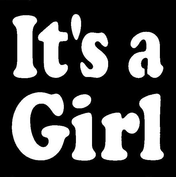 It's a Girl Stencil