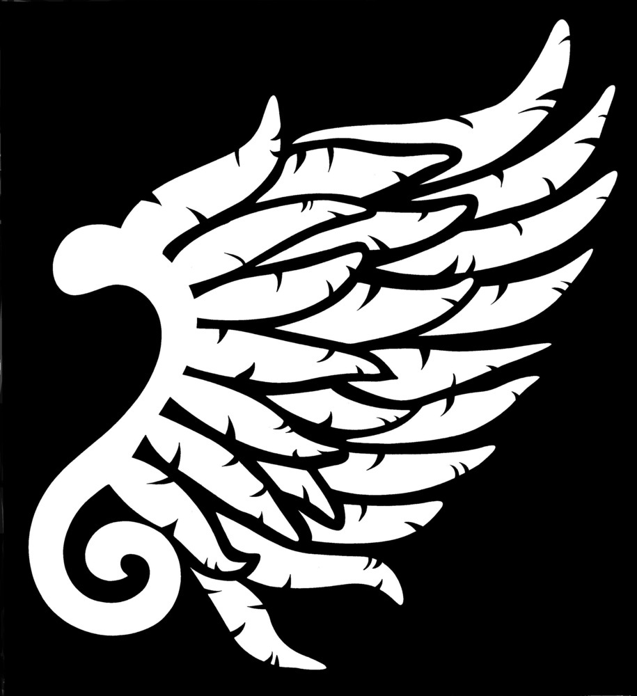 Right Angel Wing Stencil