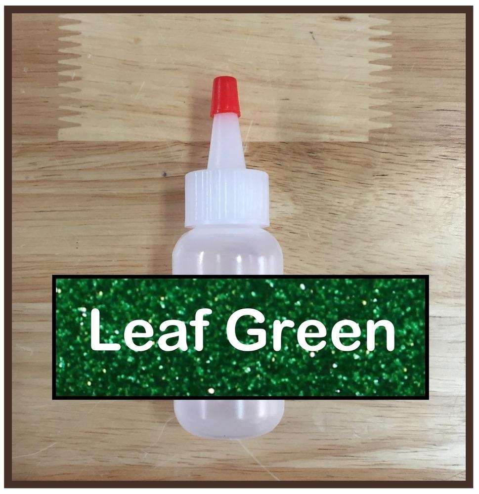 Leaf Green Glitter Poof