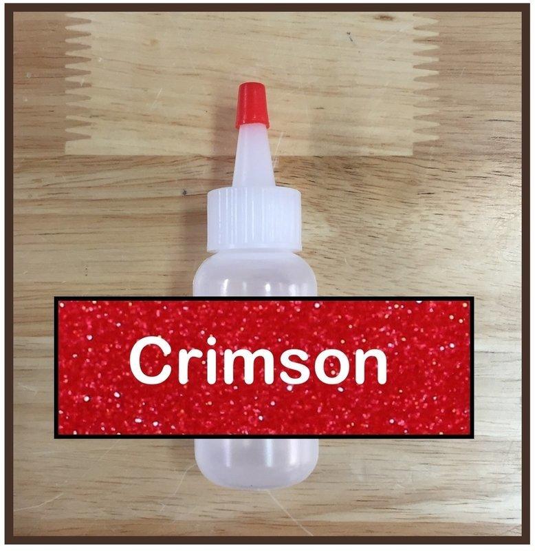 Crimson Glitter Poof