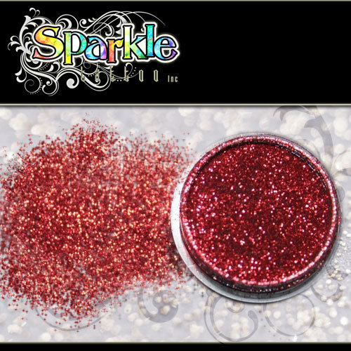 Apple Red Glitter