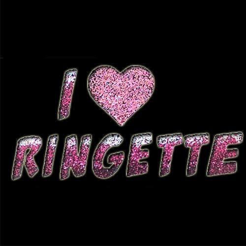 I Heart Ringette Stencil