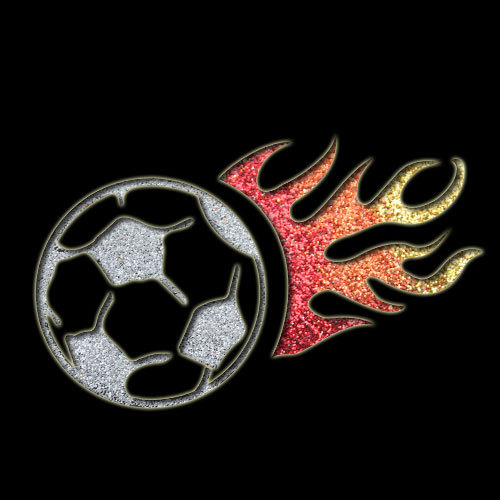 Soccer Flame Stencil