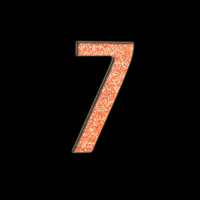 Small Number '7' Stencil