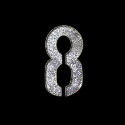 Small Number '8' Stencil